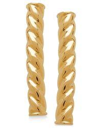 Macy's - Metallic Polished Twisted Bar Linear Drop Earrings In 10k Gold - Lyst