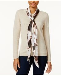 Vince Camuto | Natural Inky Floral Oblong Scarf | Lyst