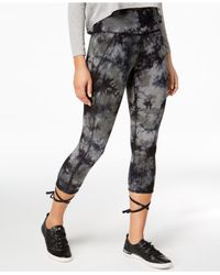 CALVIN KLEIN 205W39NYC - Black Performance Tie-dyed Ballet Cropped Leggings - Lyst