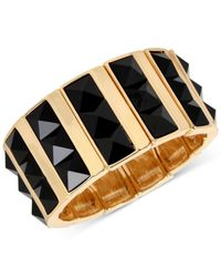 INC International Concepts | Metallic M. Haskell For Inc Gold-tone Faceted Jet Stone Rectangle Stretch Bracelet, Only At Macy's | Lyst