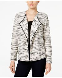 Style & Co. | Black Space-dyed Draped Jacket, Only At Macy's | Lyst