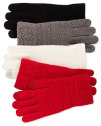 Steve Madden | Red Cable Knit Touch Gloves | Lyst