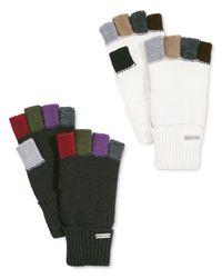 Steve Madden | White Colorblock Fingerless Boyfriend Gloves | Lyst