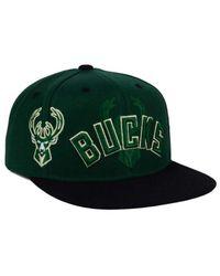Adidas Originals - Green Milwaukee Bucks 2016 Draft Snapback Cap for Men - Lyst