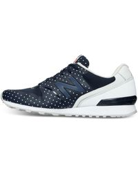 New Balance Blue Women's 696 Re-engineered Casual Sneakers From Finish Line