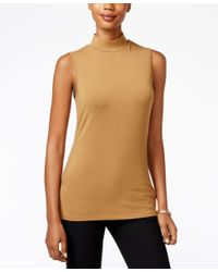 Charter Club Multicolor Mock-turtleneck Shell, Only At Macy's