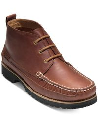 Cole Haan | Brown Men's Connery Moc-toe Chukka Boots for Men | Lyst