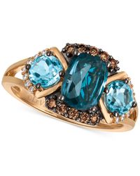 Le Vian | Blue Topaz (2-5/8 Ct. T.w.) And Diamond (1/5 Ct. T.w.) Ring In 14k Rose Gold | Lyst