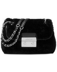 Michael Kors | Black Michael Sloan Small Chain Shoulder Bag | Lyst