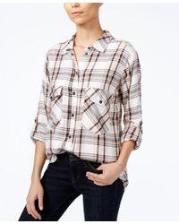 Sanctuary | Multicolor Plaid Boyfriend Shirt, A Macy's Exclusive Style | Lyst