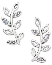 Giani Bernini | Metallic Crystal Vine Ear Climber Earrings In Sterling Silver, Only At Macy's | Lyst
