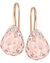 Swarovski | Pink Multi-faceted Crystal Drop Earrings | Lyst