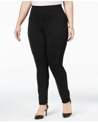 Style & Co. | Black Plus Size Seamed Leggings, Only At Macy's | Lyst