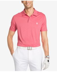 Izod   Men's Stretch Heathered Texture Stripe Polo for Men   Lyst