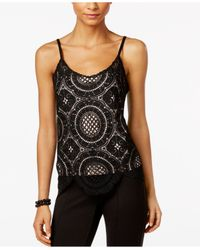 INC International Concepts | Black Crochet Camisole, Only At Macy's | Lyst