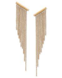 Michael Kors | Metallic Gold-tone Graduated Fringe Drop Earrings | Lyst