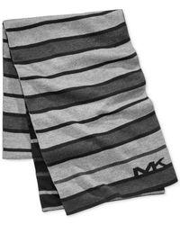 Michael Kors | Gray Men's Tonal-stripe Scarf for Men | Lyst