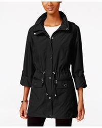 Style & Co. | Black Hooded Anorak Jacket, Only At Macy's | Lyst
