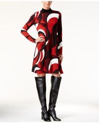 INC International Concepts | Red Printed Shift Dress, Only At Macy's | Lyst