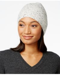 Charter Club - Multicolor Cashmere Donegal-knit Hat, Only At Macy's - Lyst