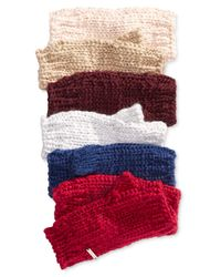 BCBGeneration | Red Thick And Thin Fingerless Gloves | Lyst