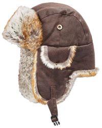 Woolrich | Brown Men's Weathrd Trapper Hat for Men | Lyst