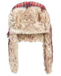 Woolrich | Black Men's Plaid Wool Trooper for Men | Lyst