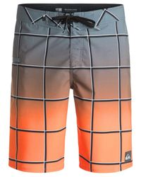 Quiksilver Gray Men's Everyday Electric Ombré Windowpane Boardshorts for men