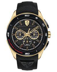 Ferrari Men's Chronograph Gran Premio Black Silicone Strap Watch 47mm 0830346 for men