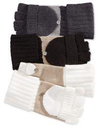 Calvin Klein - Gray Flip Top Gloves - Lyst