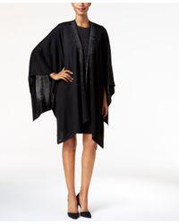 Calvin Klein | Black Studded Poncho | Lyst