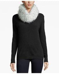 Calvin Klein | Black Boucle Infinity Scarf | Lyst