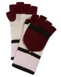 kate spade new york   Red Colorblock Pop Top Gloves   Lyst
