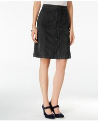 Style & Co. | Black Button-front Corduroy Skirt | Lyst