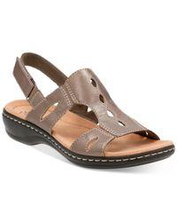 Clarks | Multicolor Women's Leisa Lakelyn Flat Sandals | Lyst
