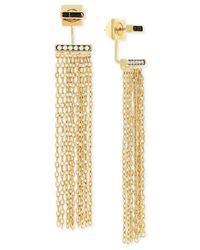Vince Camuto | Metallic Gold-tone Front And Back Fringe Earrings | Lyst