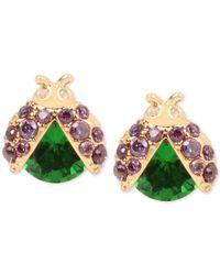 Betsey Johnson | Gold-tone Green Ladybug Stud Earrings | Lyst