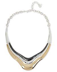 Robert Lee Morris - Metallic Tri-tone Sculptural Collar Necklace - Lyst
