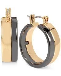 Robert Lee Morris | Metallic Two-tone Wide Hoop Earrings | Lyst