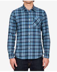 Volcom   Blue Men's Long-sleeve Gaines Plaid Shirt for Men   Lyst