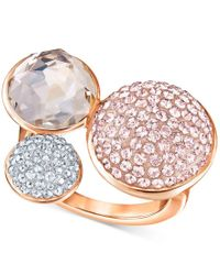 Swarovski | Pink Spherical Multi-crystal Statement Ring | Lyst
