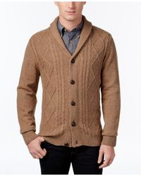 Tricots St Raphael | Multicolor Men's Cable-knit Shawl-collar Cardigan for Men | Lyst