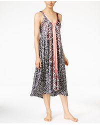 Oscar de la Renta | Black Border-print Nightgown | Lyst
