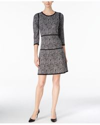 Nine West | Multicolor Printed A-line Sweater Dress | Lyst