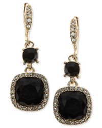 Givenchy - Metallic Cushion-stone And Crystal Drop Earrings - Lyst