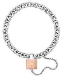 Michael Kors | Multicolor Tri-tone Padlock Link Bracelet | Lyst