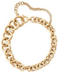 Michael Kors | Metallic Gold-tone Graduated Link Bracelet | Lyst
