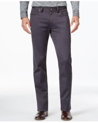 Vince Camuto | Gray Men's Charcoal Twill Stretch Pants for Men | Lyst