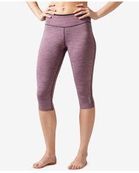 Reebok | Multicolor Workout Ready Reversible Capri Leggings | Lyst