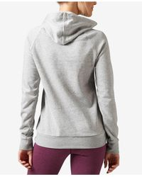 Reebok | Gray Workout Ready Pullover Graphic Hoodie | Lyst
